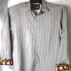 Robert Graham Long Sleeve Button Front Shirt Mens